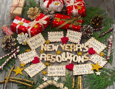 Resoluções de ano novo Foto de archivo