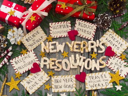New Years Resolutions Stock Photo