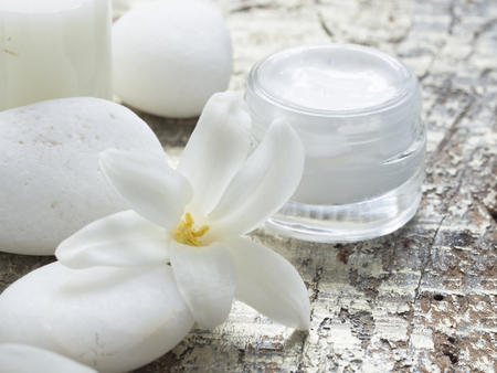 natural cosmetics, fresh as flowers Stock Photo