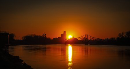 Sunset at river Councilbluff