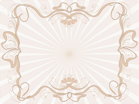 Background calligraphic frame in beige