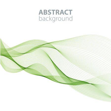 Fond de vagues abstraites, lignes ondulées pour brochure, site Web, conception de flyer. Lignes transparentes