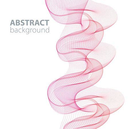 Purple abstract waves background, waved lines for brochure, website, flyer design. Transparent lines Ilustrace