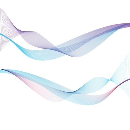 Abstract waves on the white background. Transparent lines Vector Illustratie