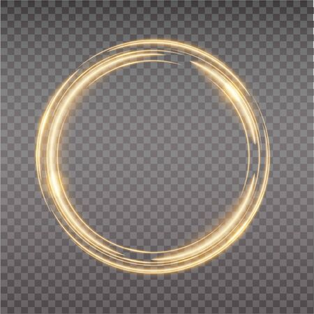 Bright halo. Abstract glowing circles. Light optical effect halo on transparent background. Stock Vector - 138425642