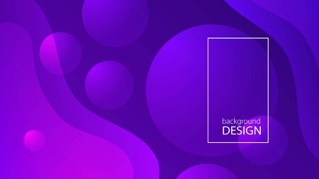 Purple fluid background design. Liquid gradient shapes composition. Futuristic design posters. Fluid background design abstract bubble shapes for print or web on purple background