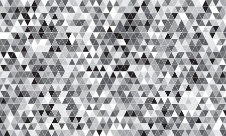 Mirror silver triangle tiles. Abstract mosaic geometry pattern. Triangle minimal mirror background for modern cover, ad baner, web. Vector silver mosaic background 向量圖像