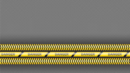 Police tape, crime danger line. Caution police lines isolated. Warning tapes. Set of yellow warning ribbons. Vector illustration on dack transparent background. 일러스트