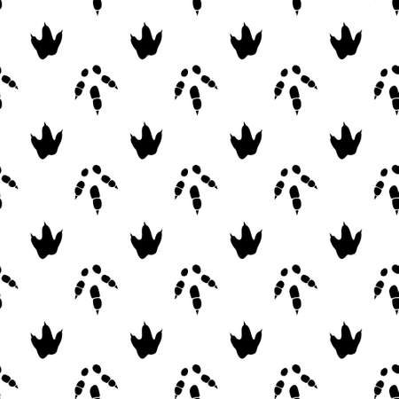 Dinosaur footprint tracks. Minimal seamless pattern. Background with paw, claw predator. Dinosaur footprint illustration perfect for textile, wrap and wallpaper and design.
