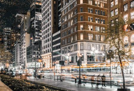5th Avenue rush hour traffic long exposure