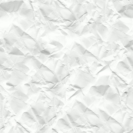 crinkled: White crumpled paper seamless texture, high resolution Stock Photo