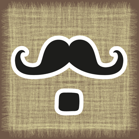 postcard from mustache in vector