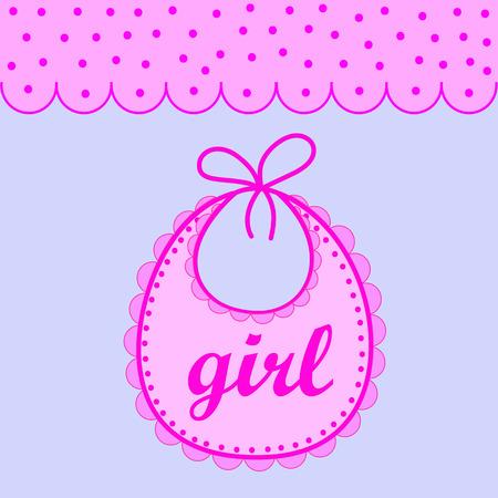 babero: babero de bebé para la muchacha