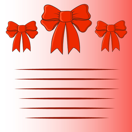 red bow: Greeting card with bow Illustration