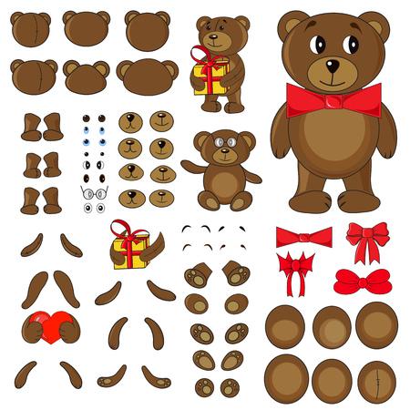 body parts: Applique, body parts of a bear