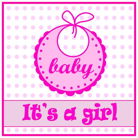 babero: babero de beb� para la muchacha