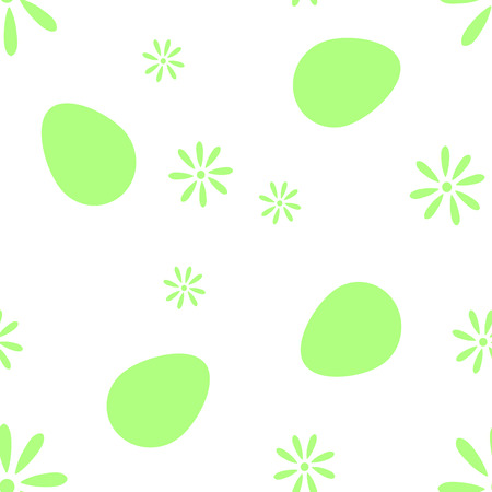 The pixel pattern of eggs and flowers vector EPS 10