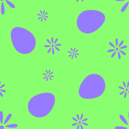 manic: The pixel pattern of eggs and flowers vector EPS 10