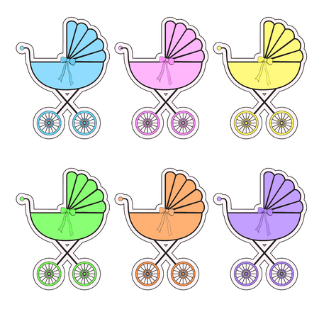 accessible: icons, stickers accessible in different colors EPS 10