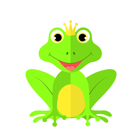 frog on white background in vector EPS 10.