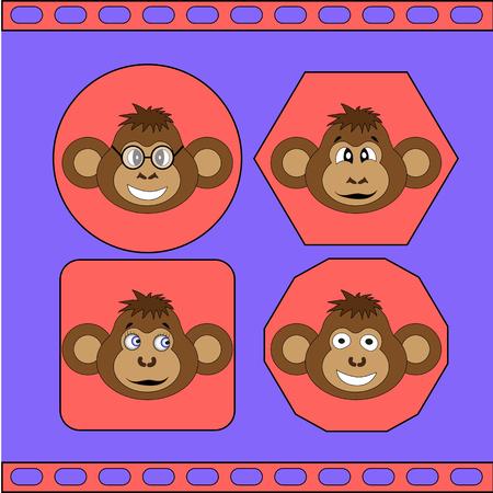 primer: The set of different monkeys EPS 10