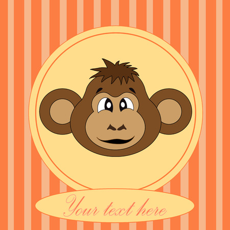 Card for birthday with a monkey in EPS 10 v