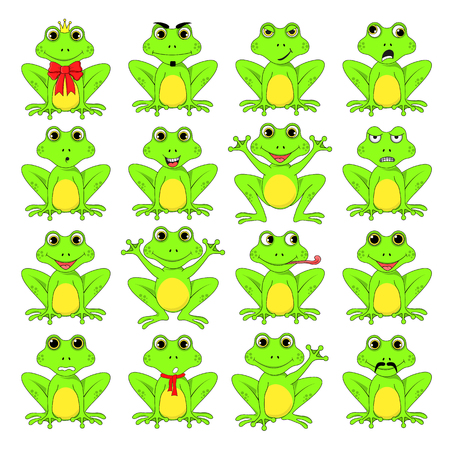frogs set on white background in vector EPS 10.