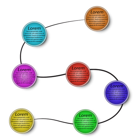 7 stages in 3d circles infographics in vector EPs 10