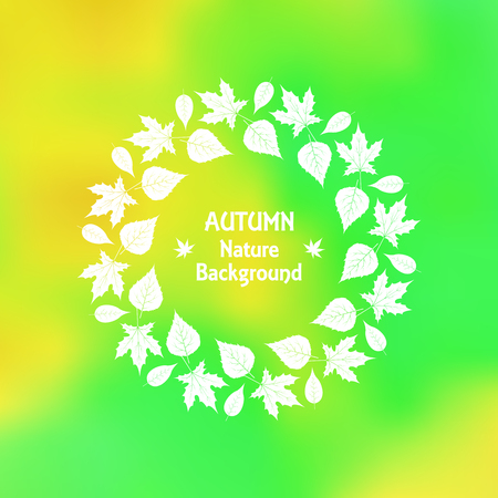 a wreath of autumn leaves in vector EPS 10.