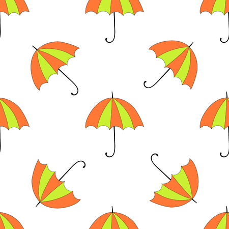 sunshade: Seamless background with autumn and colorful parasols.