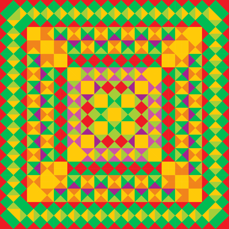 Mexican pattern. Pixel bright background in Mexican style.
