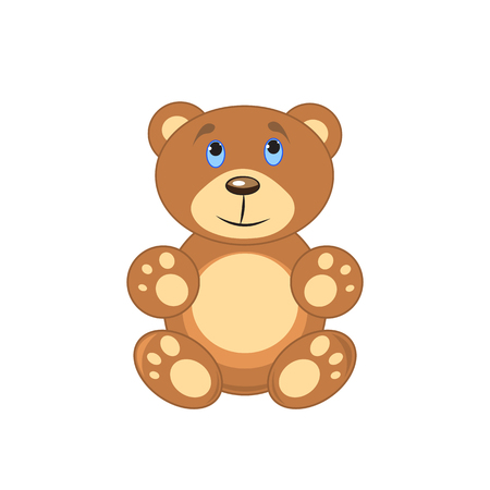 comfortable: brown bear on a white background isolated.