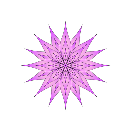 bright flower on a white background isolated. Illustration
