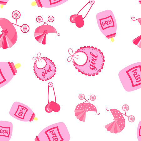 seamless pattern with child icons. Baby Wallpapers. Illustration