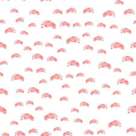 baby announcement card: seamless pattern with footprints. Baby Wallpapers. paper