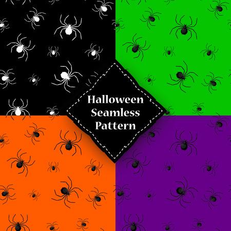 Seamless pattern with spider web on Halloween Illustration