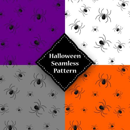 Naadloos patroon met spinneweb op Halloween