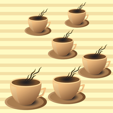 leaflet coffee shop, coffee Cup in vector EPS