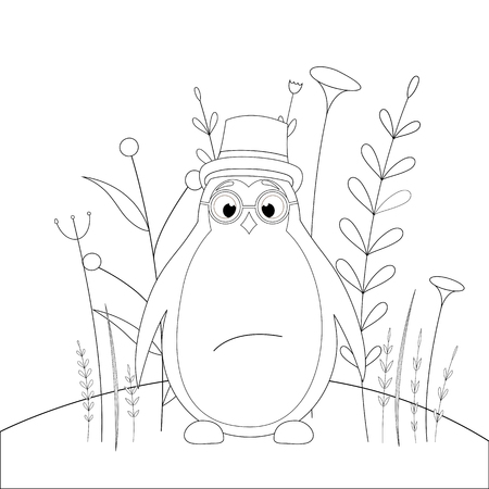 Coloring book or page for children of school and preschool age. Developing children s coloring. Vector cartoon illustration with Illustration
