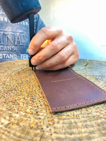 master leather products produces work from the skin Imagens