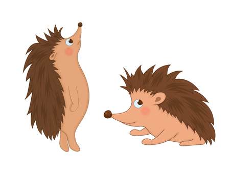 set of animals in vector isolated on white background. Cute illustrations of cartoon animals. Illustration