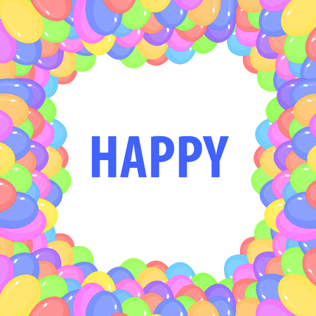 Balloons header background design element of birthday or party balloons. Imagens - 124618162