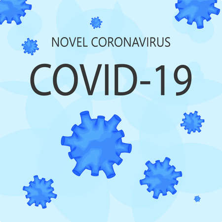 Template for the Novel Coronavirus 2019-nCoV outbreak on a white background. Pandemic epidemiology concept. Vector flat illustration.