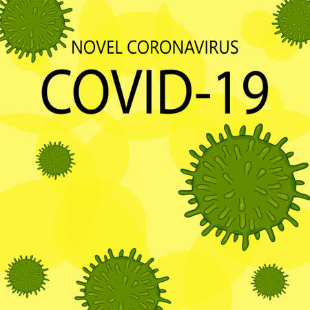 Template for the Novel Coronavirus 2019-nCoV outbreak on a white background. Pandemic epidemiology concept. Vector flat illustration