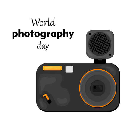 vector illustration of World Photography Day -19 August.