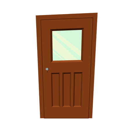 Set of doors on a white background for construction and design. Cartoon style. Vector illustration