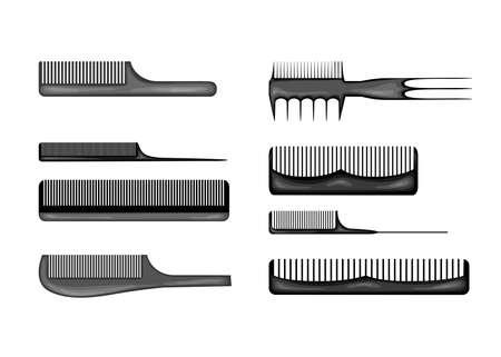 Beauty illustration with combs. Cartoon style. Vector 向量圖像