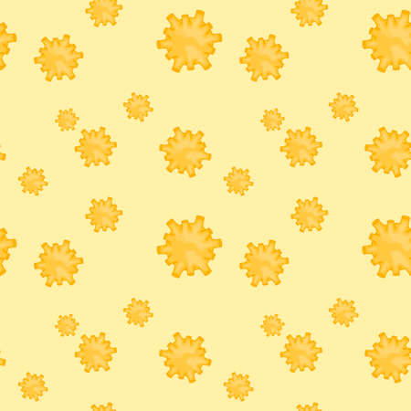 Seamless pattern with molecules Coronavirus 2019-nCoV on a white background. Pandemic epidemiology concept. Vector flat illustration.