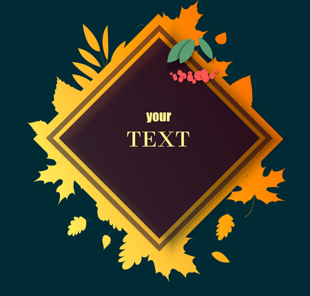 Autumn sale and hello autumn vector design set of posters and background