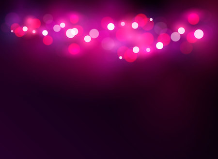 Abstract glowing light on a pink background bokeh vector illustration. St. Valentines Day
